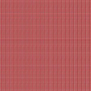 Spring Check Red