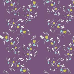 Spring Tweets on Purple
