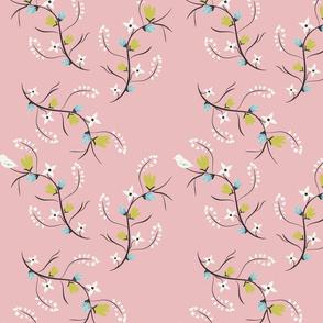 Spring Tweets on Pink