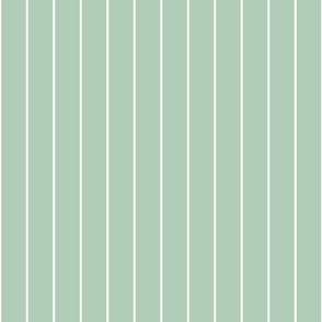 farmhouse pin stripes, sage green