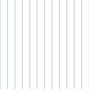 farmhouse pin stripes in sage green on white