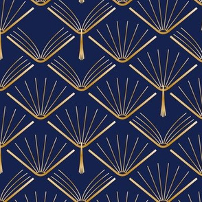 Books Art Deco-Navy