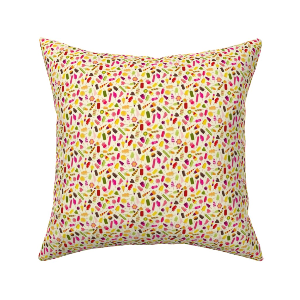 Catalan Throw Pillow featuring Popsicle party by suzytaylordesigns