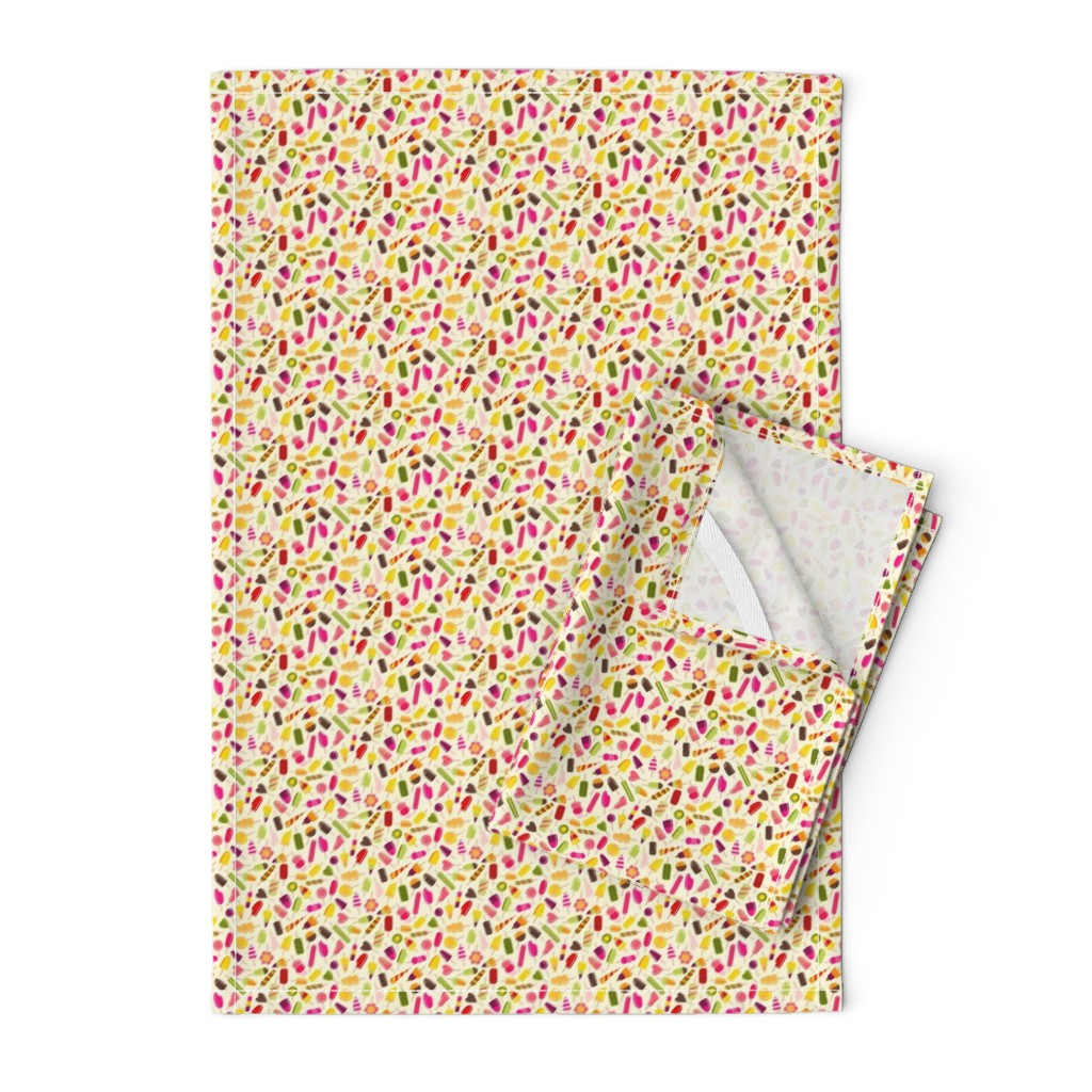 Orpington Tea Towels featuring Popsicle party by suzytaylordesigns