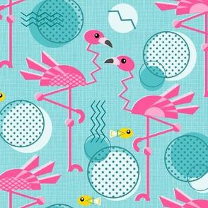 Retro Flamingo Summer