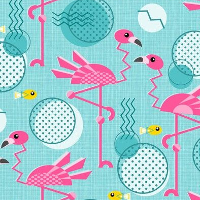 Retro Flamingo Summer