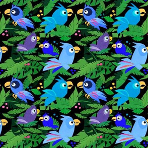 Small Jungle Birds – Blue by lucy_&_me