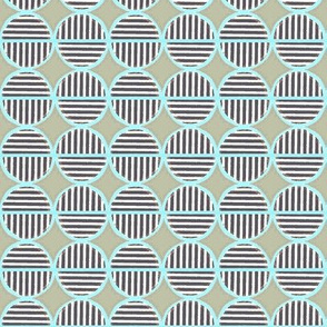 striped circles olive