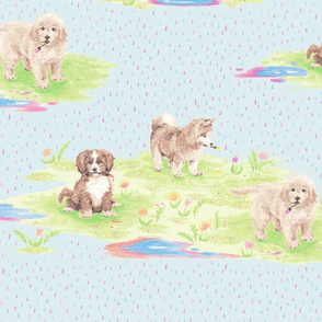 Painting Puddle Puppies