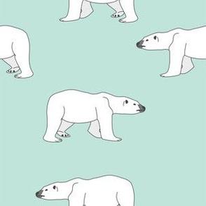 Polar Bears on Mint