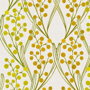 Golden Wattle Art Deco Style