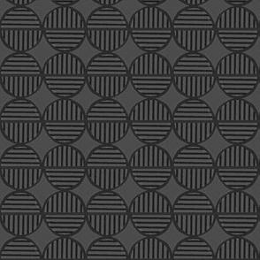 gray dark striped circles