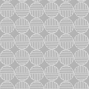 gray light striped circles