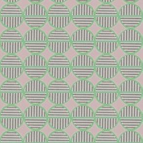 green striped circles