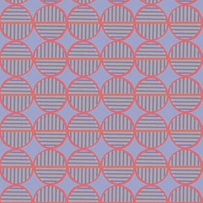 red bright striped circles