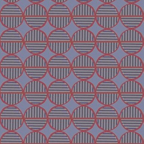 red striped circles