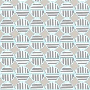 soft striped circles