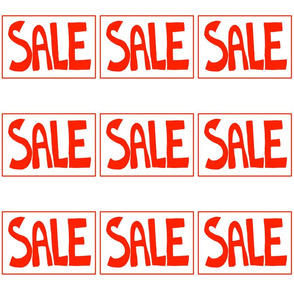Sale Red Text on White Tag Style pattern