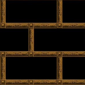 Neoclassical Frame Bricks ~ Blackest Black with Bronze