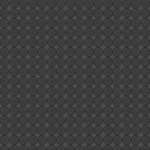 gray dark tiny striped circles