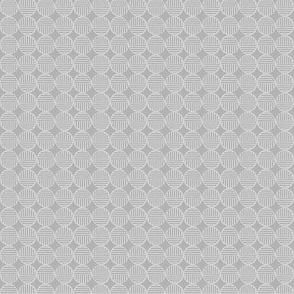 gray light tiny striped circles