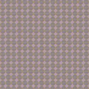 lavender gold tiny striped circles