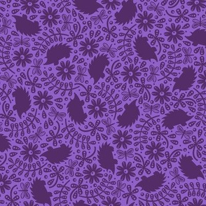 Hedgehogs & Leaves (Purple)