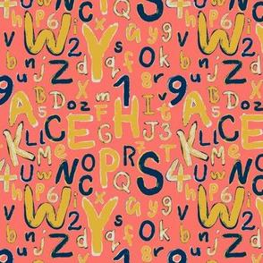 ABC Alphabet Coral Limited Color Palettes