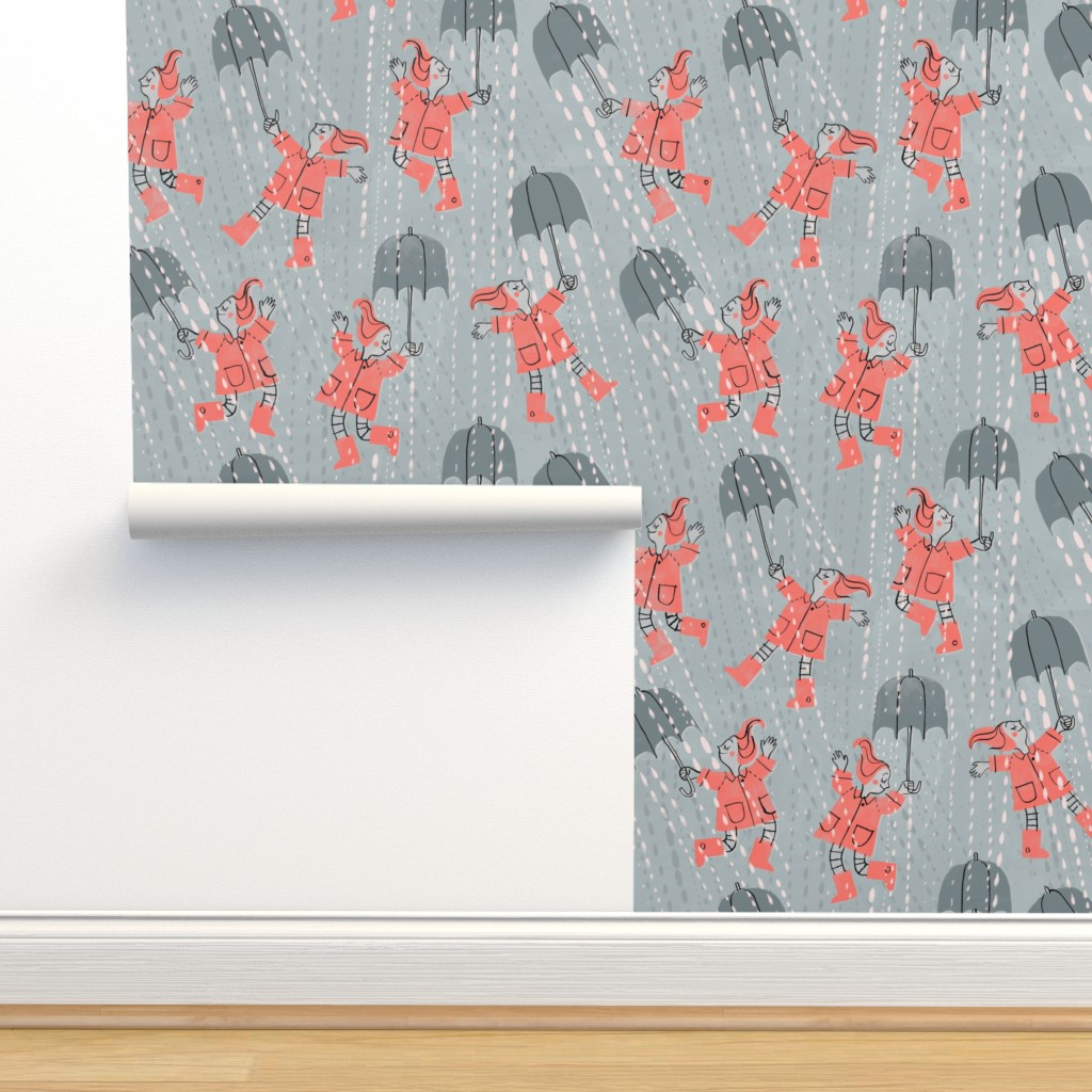 Isobar Durable Wallpaper featuring Stormbrellas by mariaspeyer