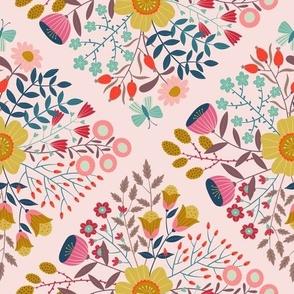 Floribunda Trellis Pink