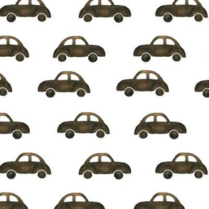 Wooden cars • watercolor boho pattern for baby boy