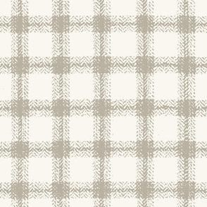 Herringbone Plaid - Shadow, H White   (B &L)