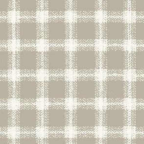 Herringbone Plaid - H White, Shadow  (B &L)
