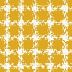 Herringbone Plaid - H White, Lemon  (B &L)