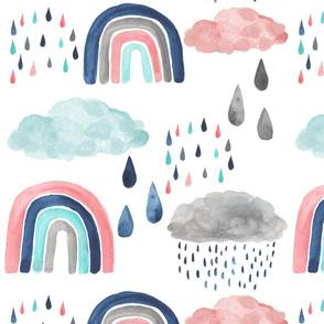 Rain Clouds and Rainbows