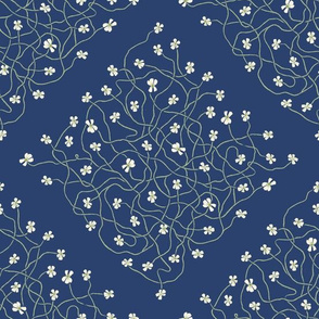 Butterwort Flowers [diamond grid]