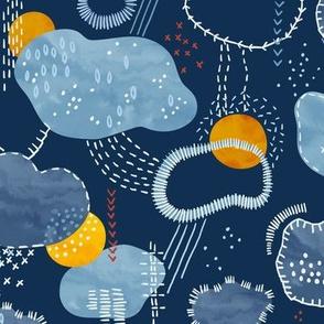 Sashiko Spring  Clouds