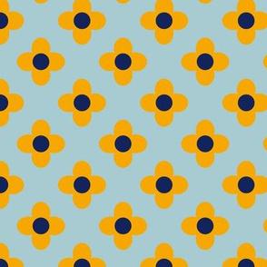 Retro Summerflower Orange Blue XSmall
