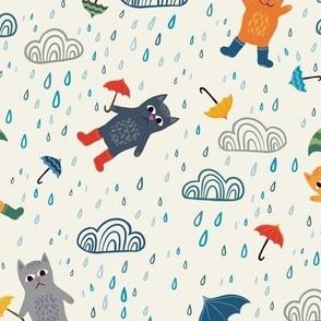 It's raining cats and umbrellas