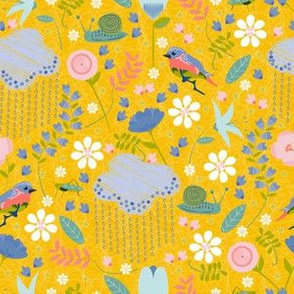 April Showers May Flowers Yellow