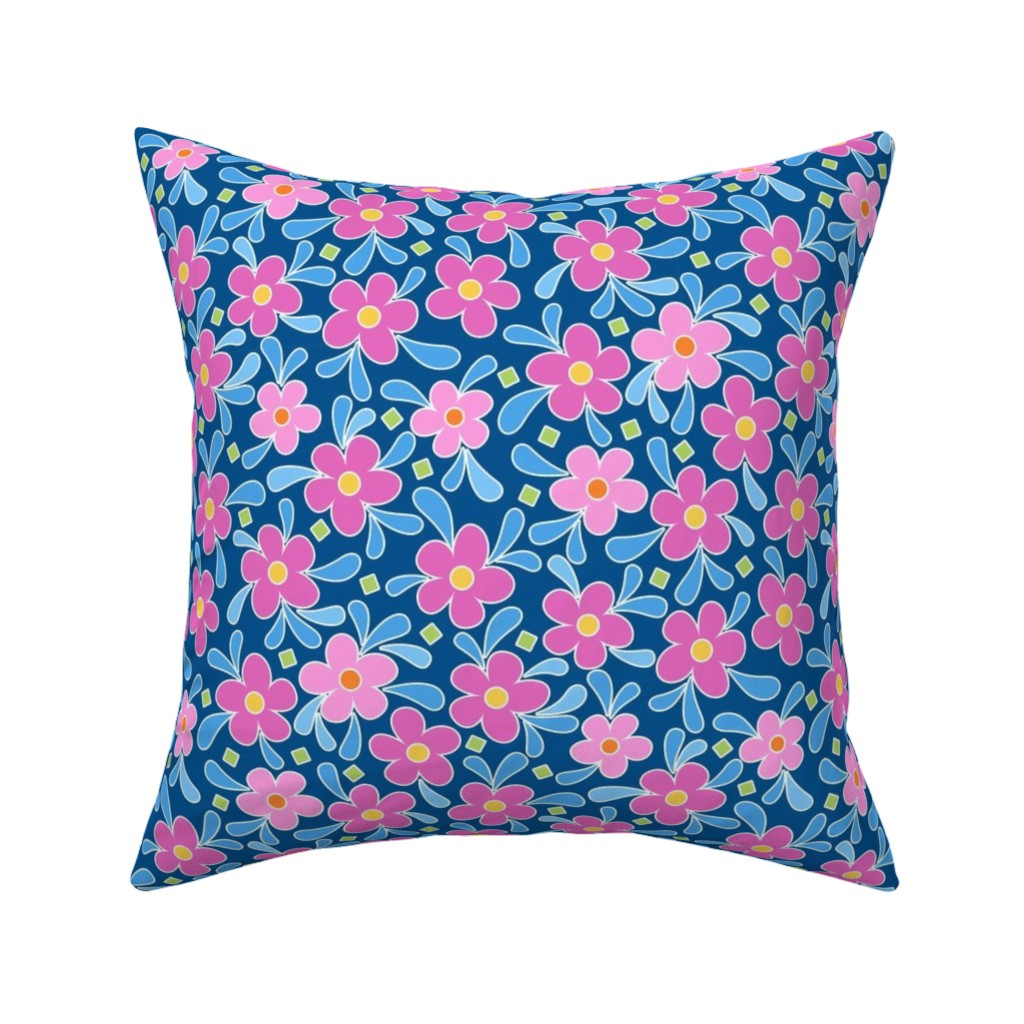 Catalan Throw Pillow featuring Showers of Flowers ©Julee Wood by jewelraider