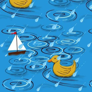 Raindrops and ripples