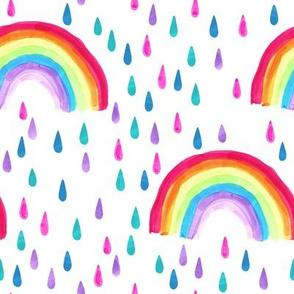 Rainbow Rain // Marker Rainbows
