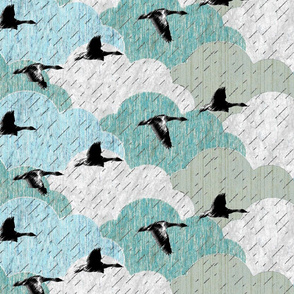 April showers and geese