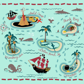 High Seas Adventure Playmat