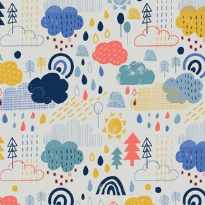 Spring showers in coral