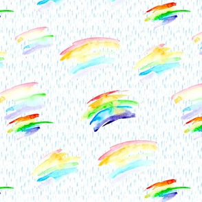 No rain - no rainbow    watercolor