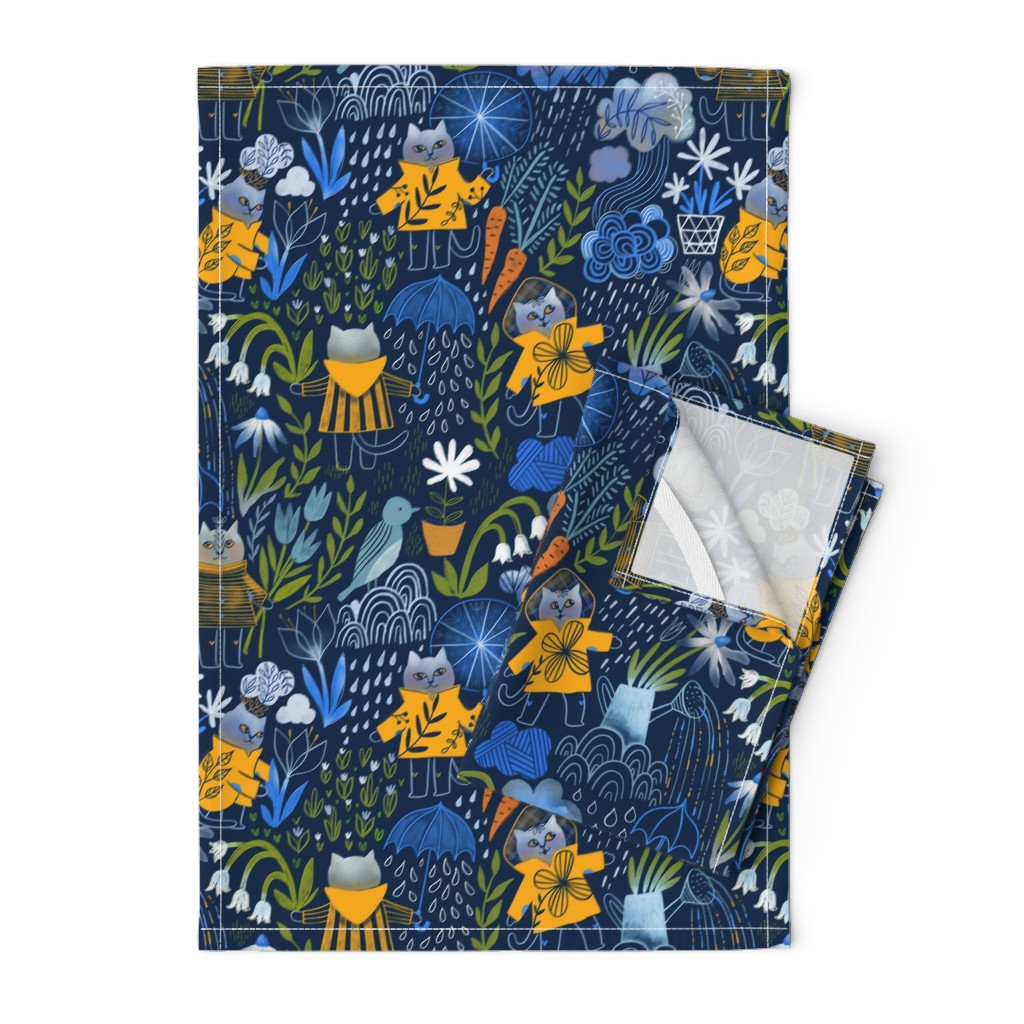 Orpington Tea Towels featuring Who let the cats out? by kostolom3000