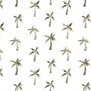 Boho palms • watercolor modern beach pattern