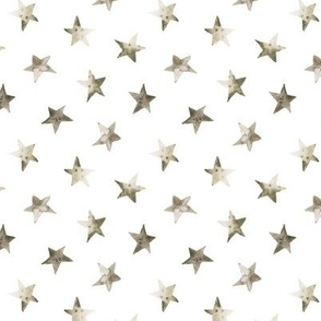Boho watercolor stars for modern nursery, gender neutral